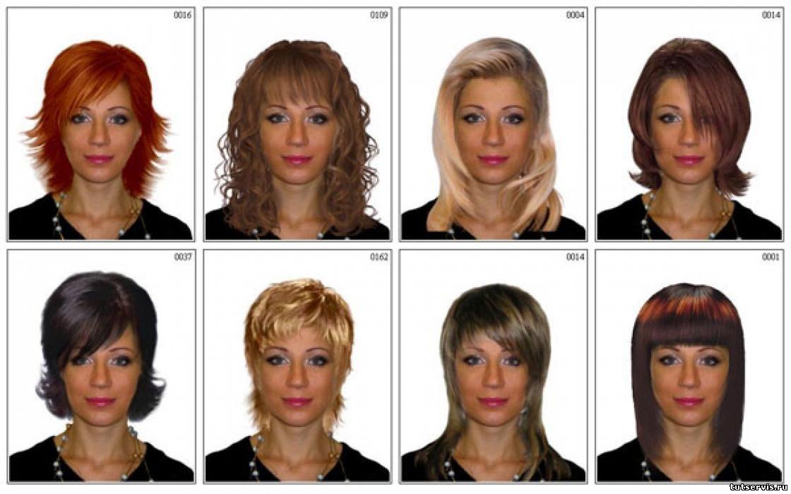 Подобрать прическу и цвет волос по i